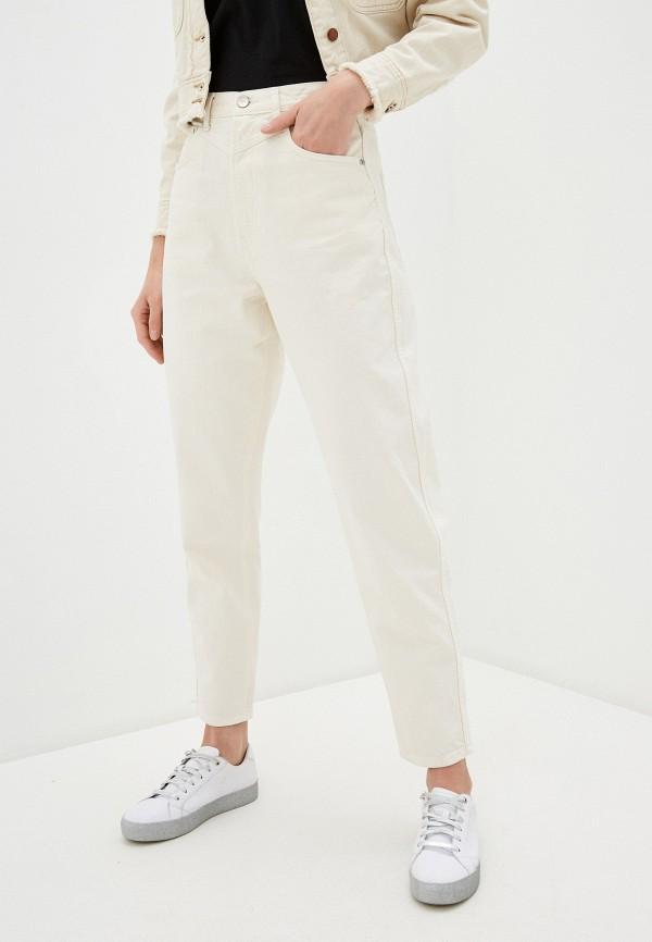 женские джинсы-мом pepe jeans london, белые