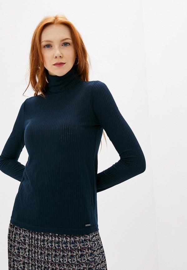 женская водолазка pepe jeans london, синяя