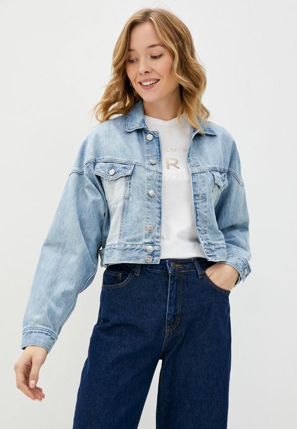 женская джинсовые куртка pepe jeans london, голубая
