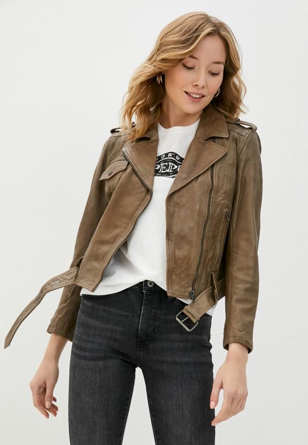 женская куртка pepe jeans london, бежевая