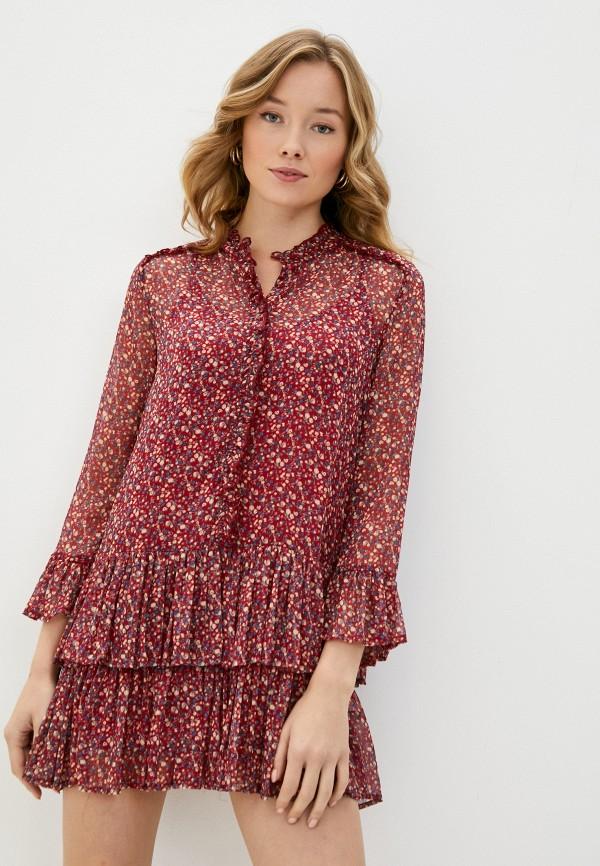 женское повседневные платье pepe jeans london, красное