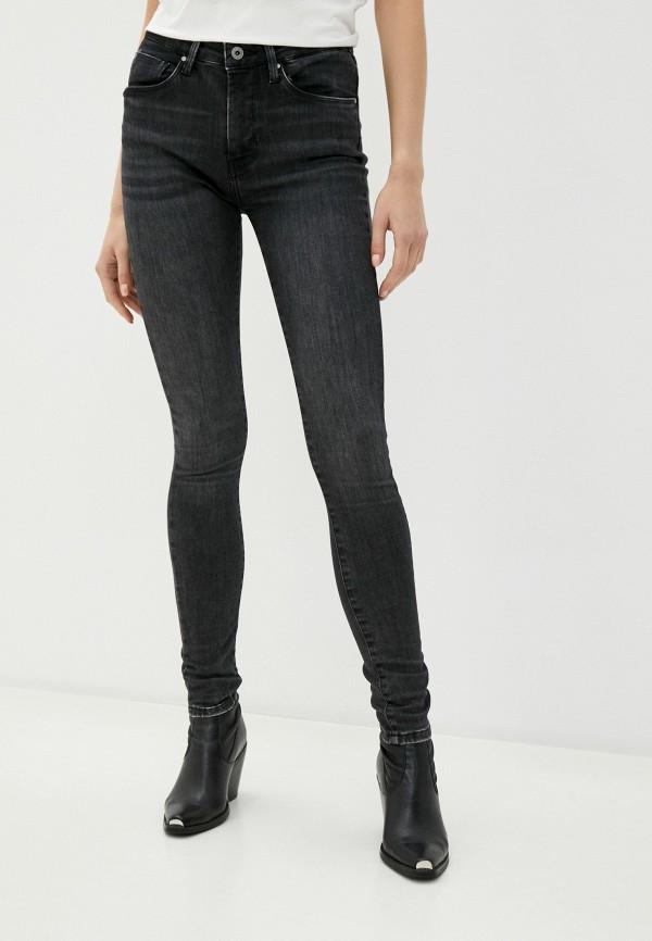 женские джинсы pepe jeans london, серые