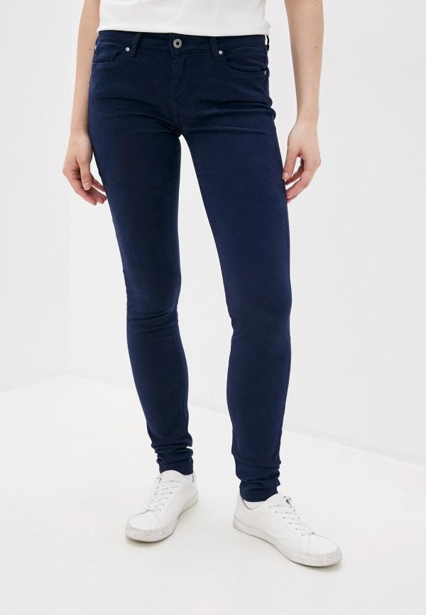 женские повседневные брюки pepe jeans london, синие