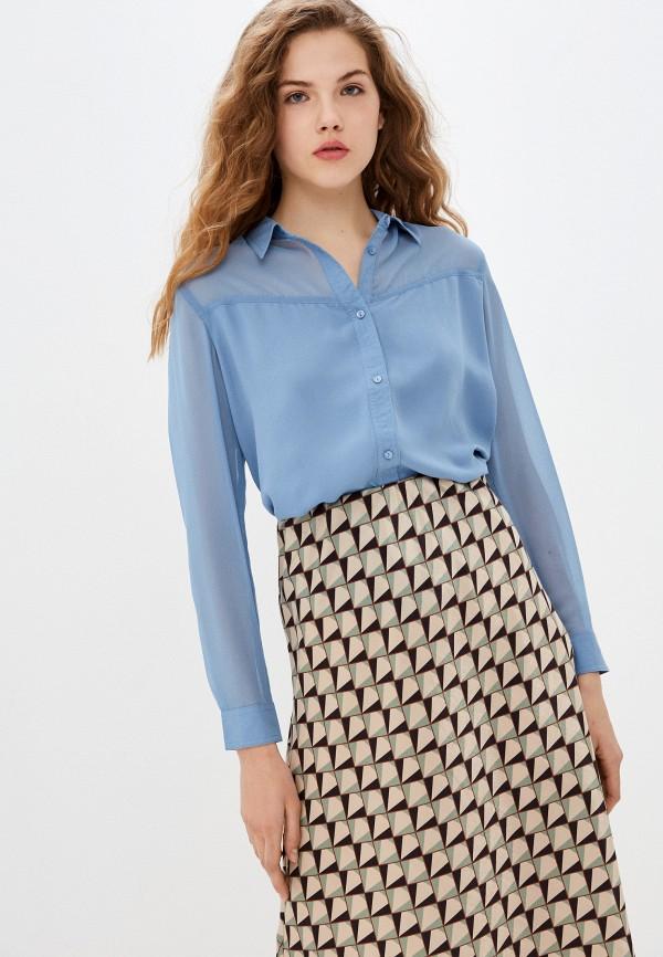 женская блузка pepe jeans london, голубая