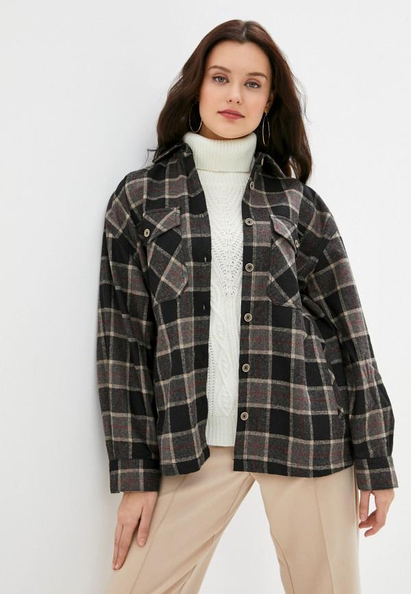женская рубашка с длинным рукавом pepe jeans london, коричневая