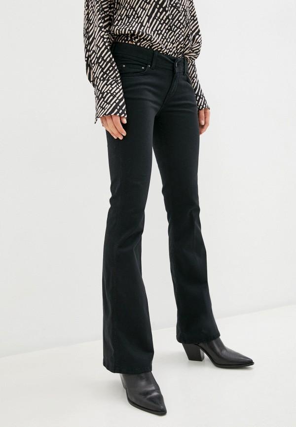 женские джинсы клеш pepe jeans london, черные