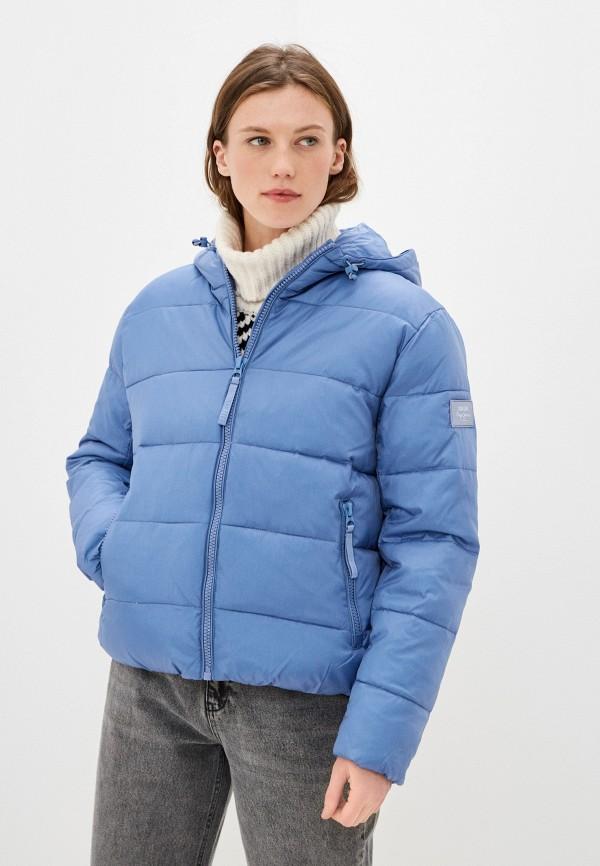 женская куртка pepe jeans london, голубая