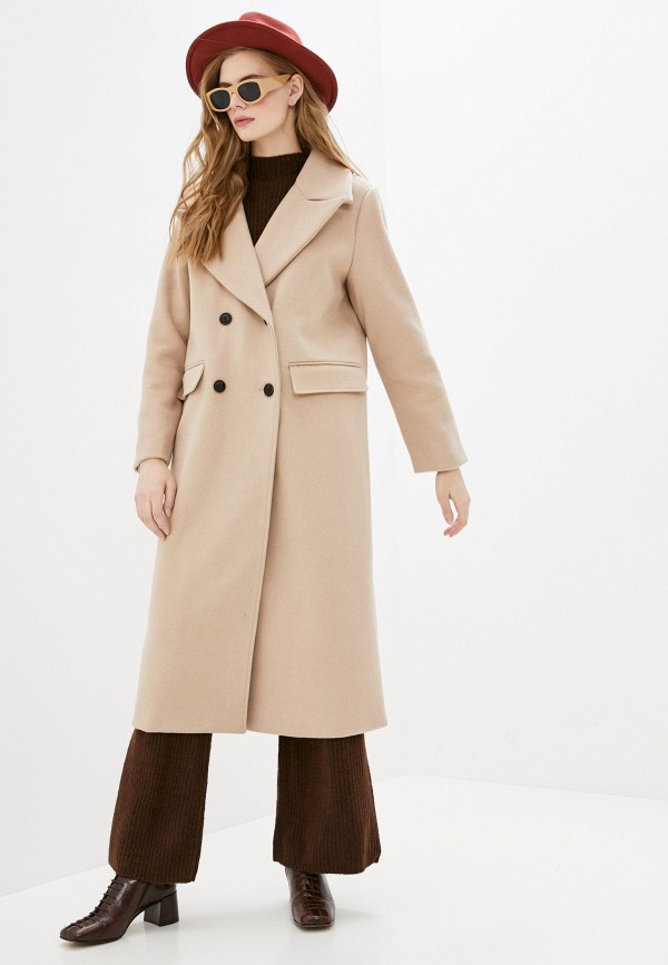 женское пальто pepe jeans london, бежевое