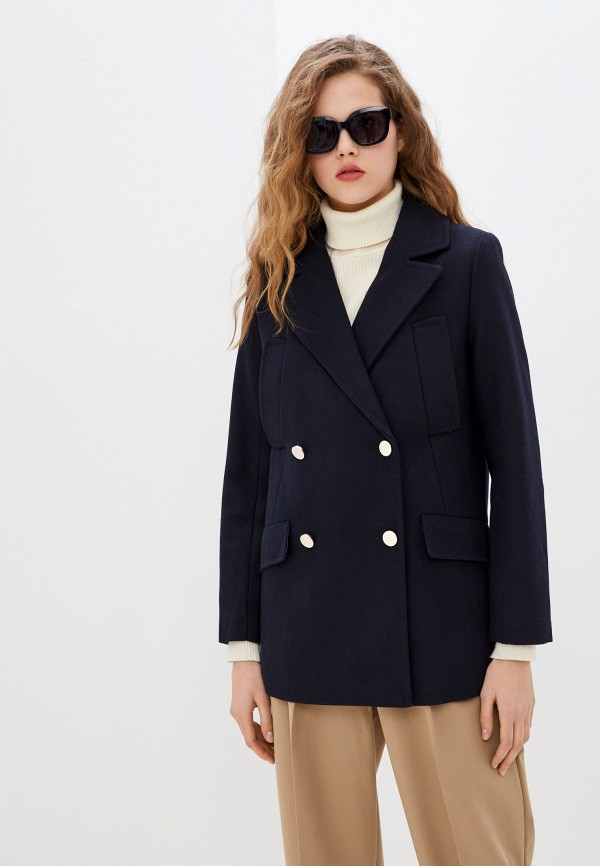 женское пальто pepe jeans london, синее