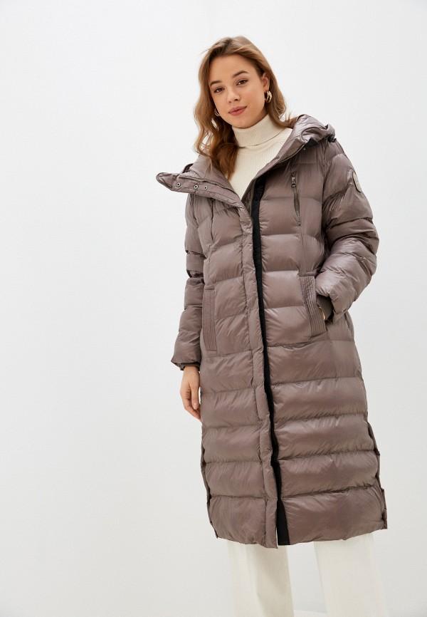 женская куртка pepe jeans london, коричневая