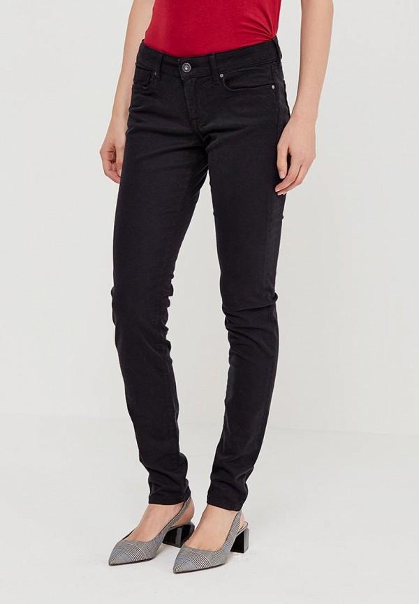 мужские зауженные брюки pepe jeans london, черные