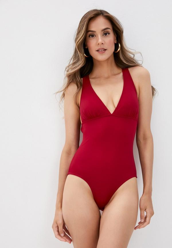 женский купальник phax, бордовый
