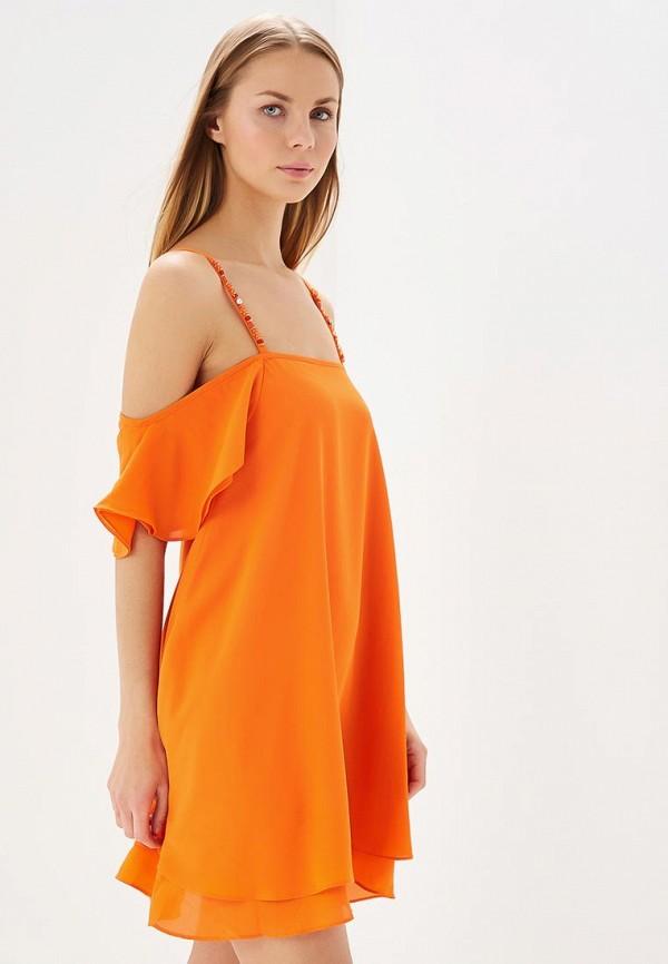 женское повседневные платье phard, оранжевое