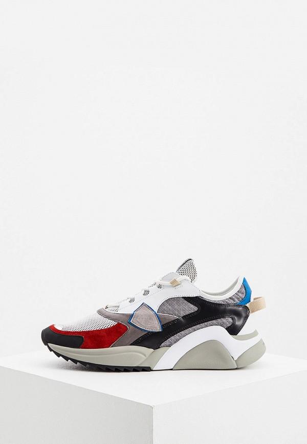 мужские кроссовки philippe model paris, разноцветные