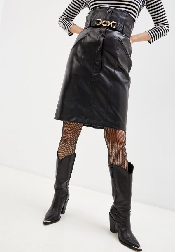 женская юбка philosophy di lorenzo serafini, черная