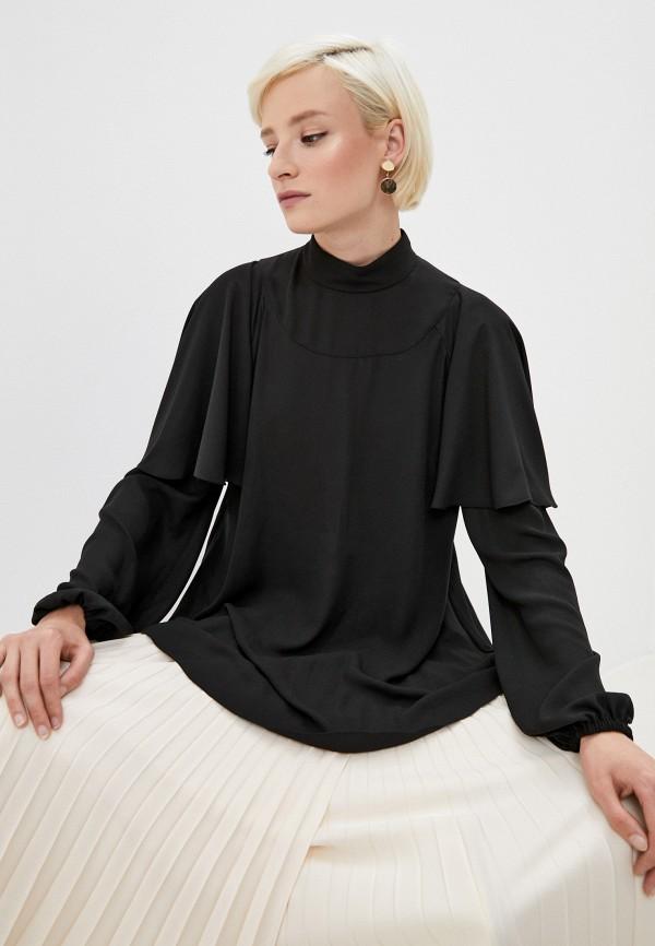 женская блузка philosophy di lorenzo serafini, черная