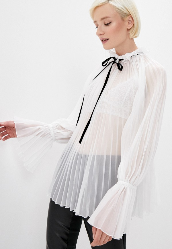 женская блузка philosophy di lorenzo serafini, белая