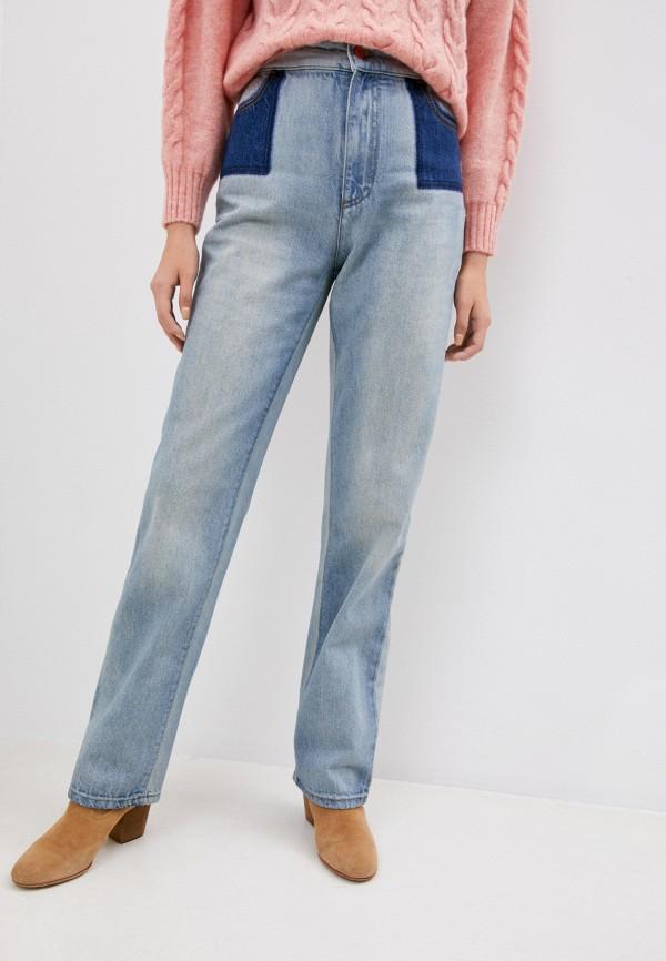 женские прямые джинсы philosophy di lorenzo serafini, голубые