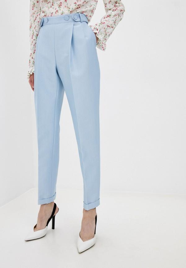 женские повседневные брюки philosophy di lorenzo serafini, голубые