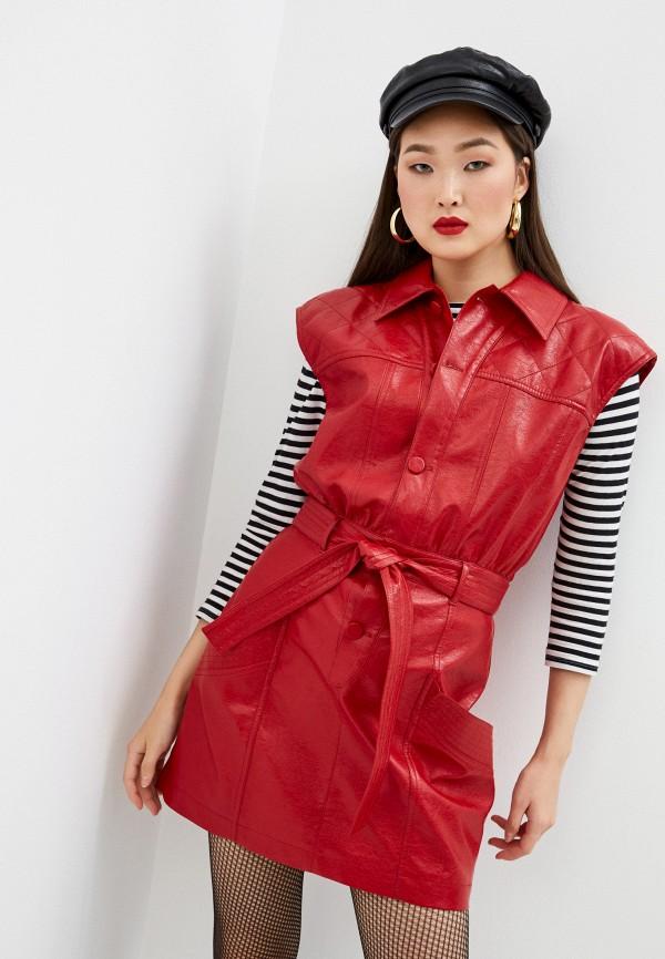 женское платье philosophy di lorenzo serafini, красное
