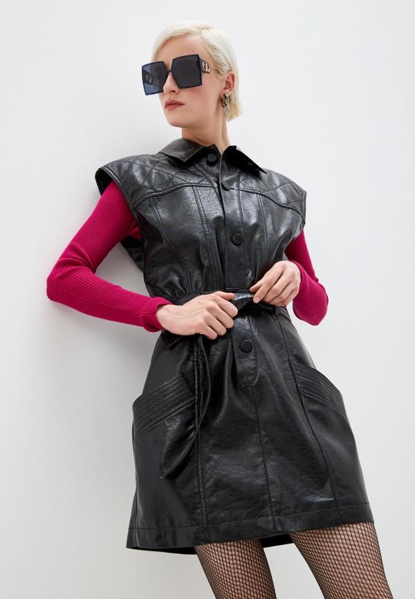 женское платье philosophy di lorenzo serafini, черное