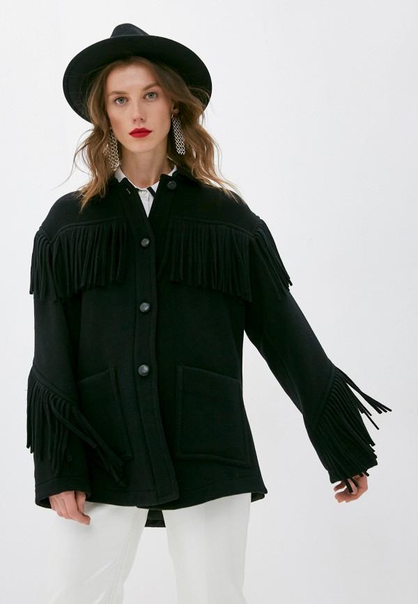 женское пальто philosophy di lorenzo serafini, черное