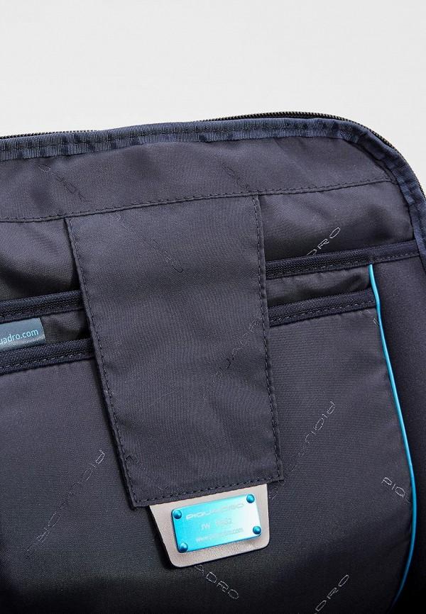Фото 4 - мужской рюкзак Piquadro синего цвета