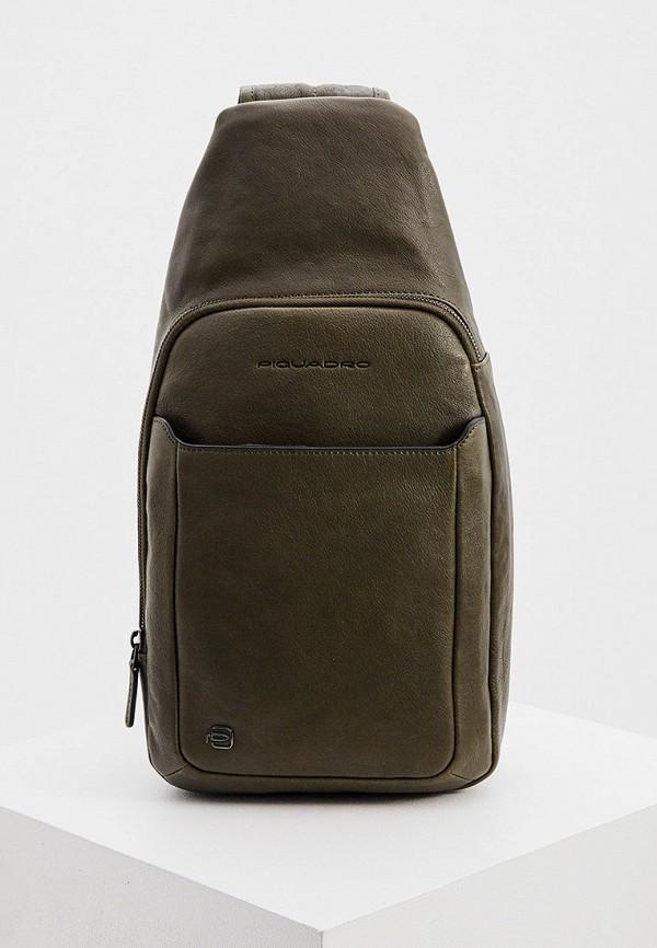 мужская сумка через плечо piquadro, черная