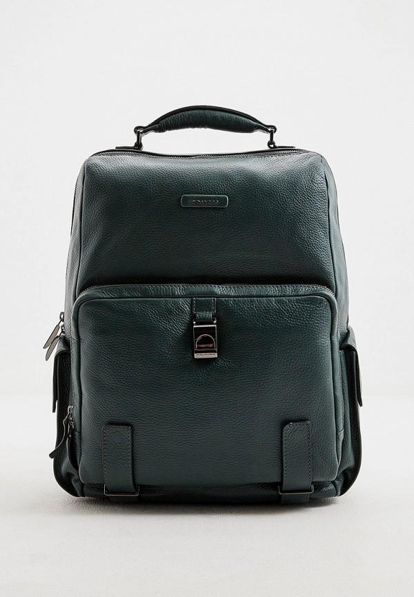 мужской рюкзак piquadro, зеленый