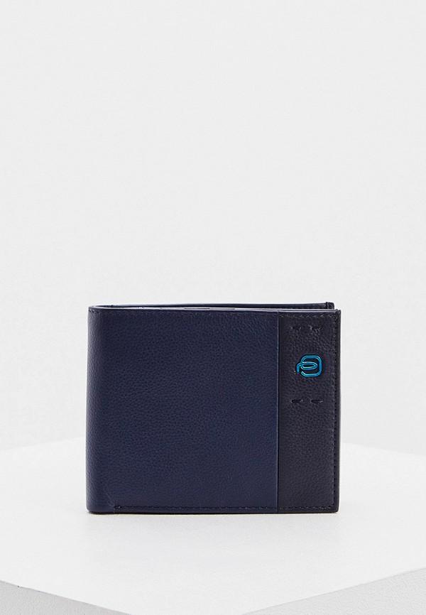 мужской кошелёк piquadro, синий