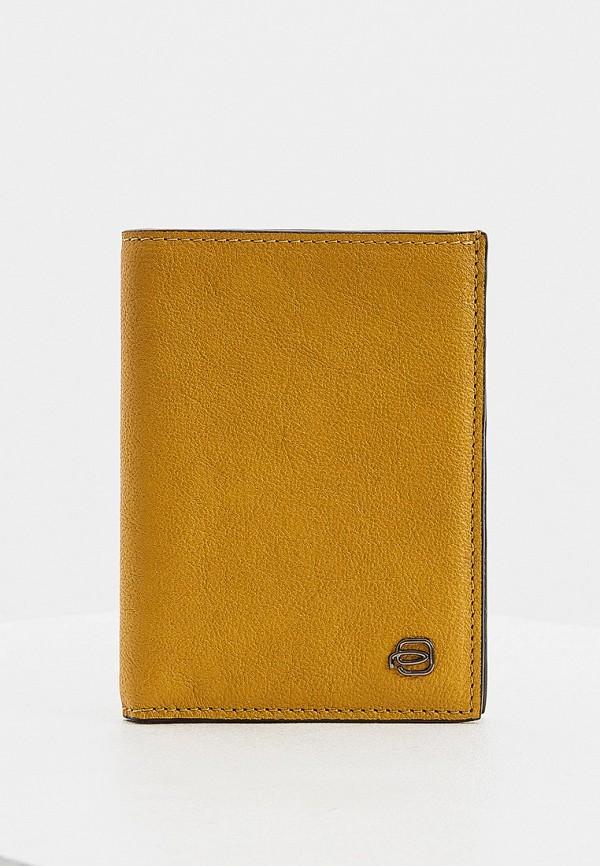 мужской кошелёк piquadro, желтый
