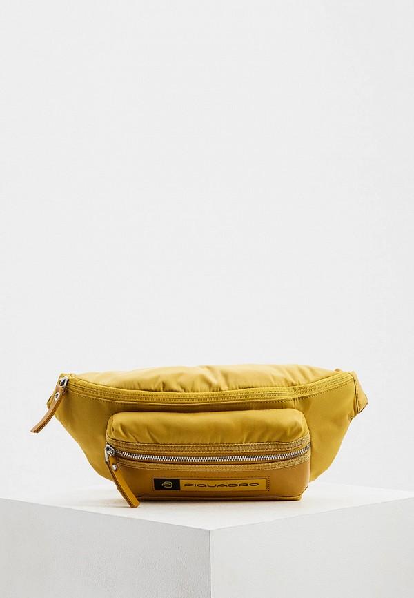 мужская сумка piquadro, желтая