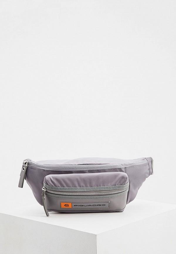 мужская сумка piquadro, серая