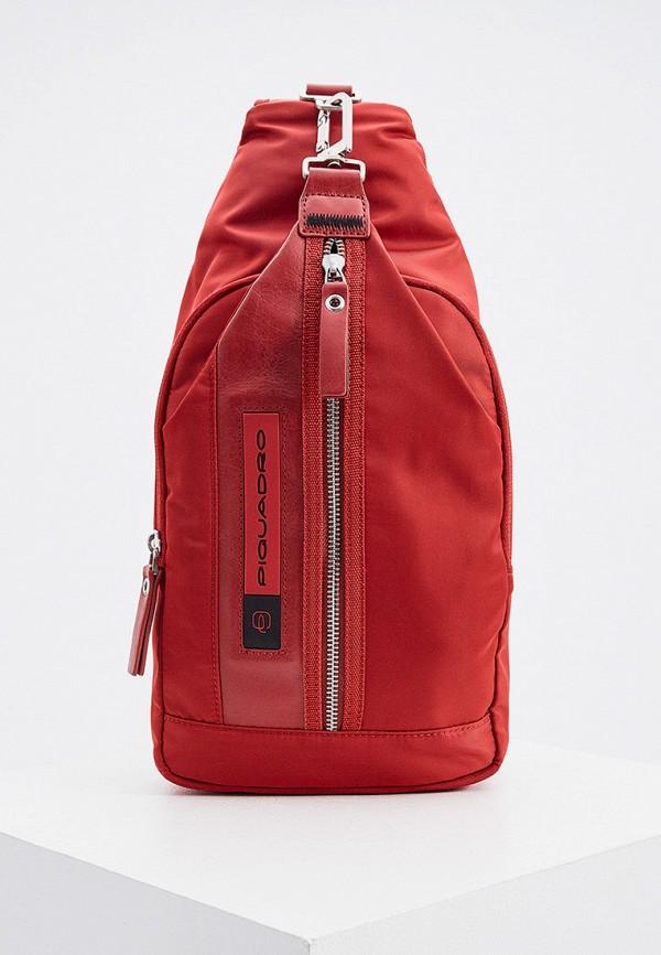 мужской рюкзак piquadro, красный