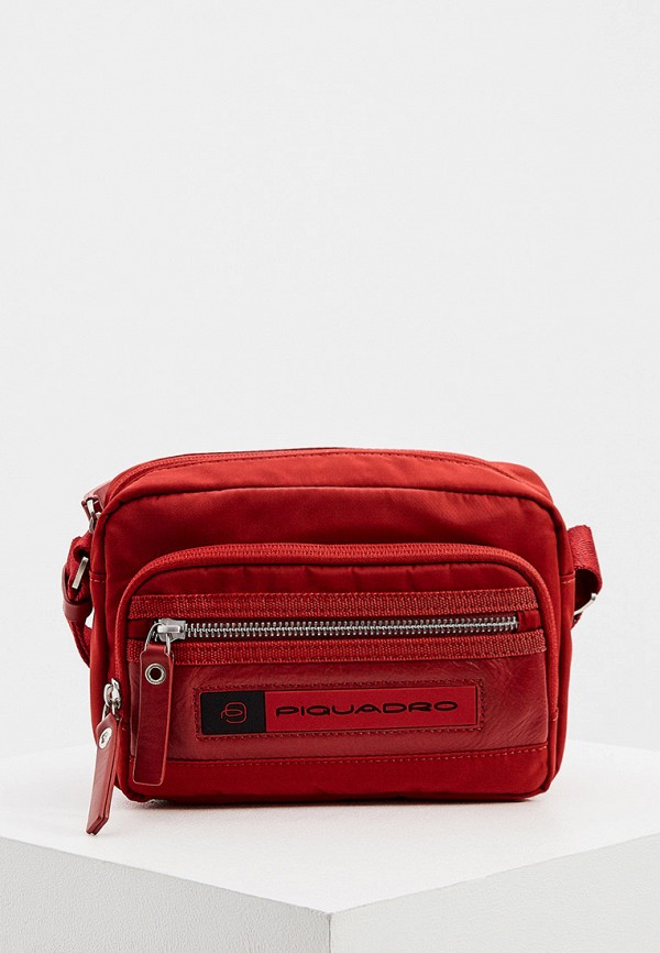 мужская сумка piquadro, красная