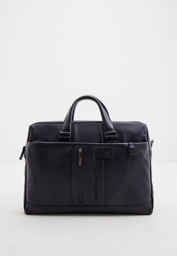 мужская сумка с ручками piquadro, синяя