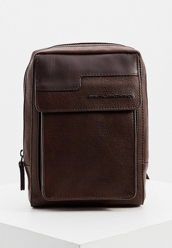 мужская сумка piquadro, коричневая