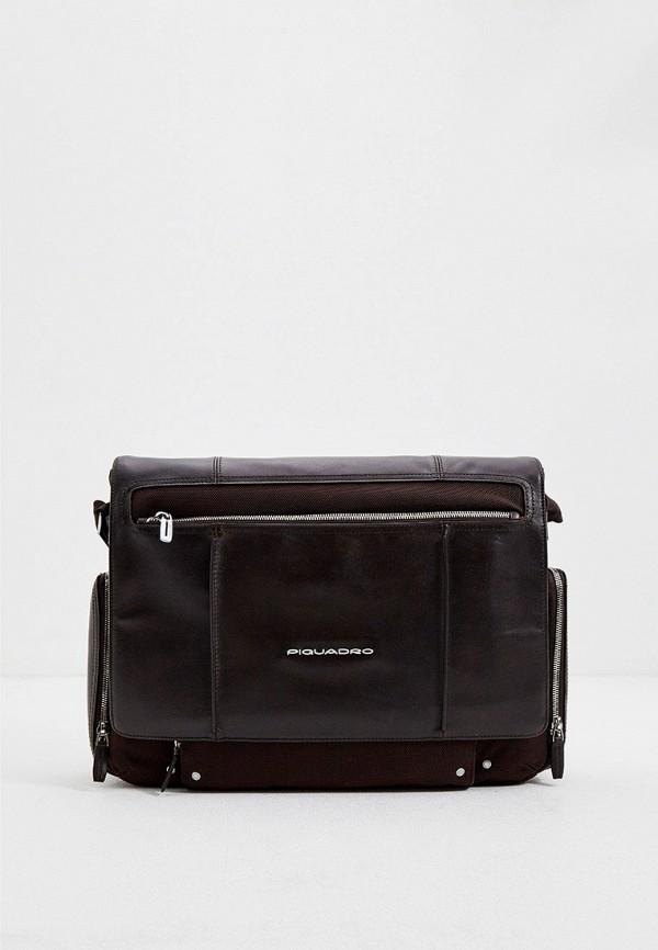 мужской портфель piquadro, коричневый