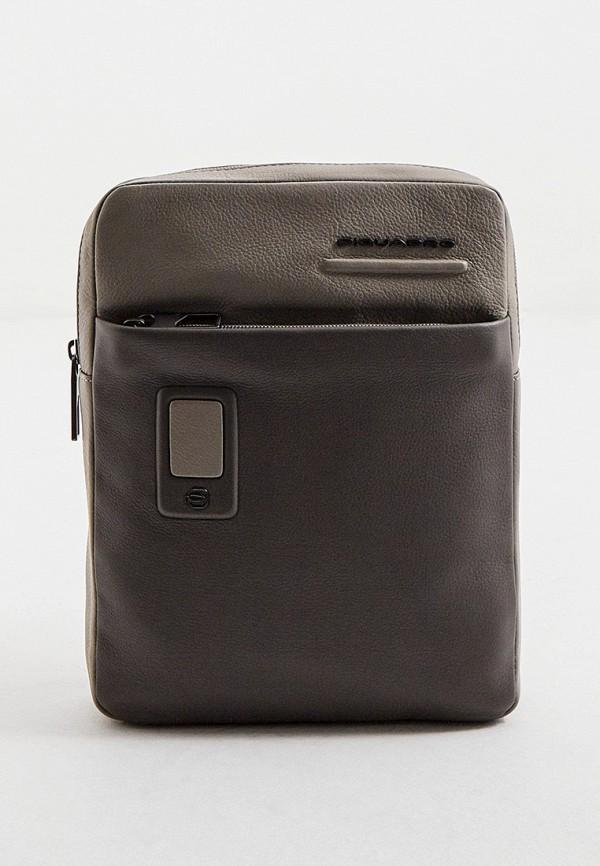 мужская сумка piquadro, бежевая