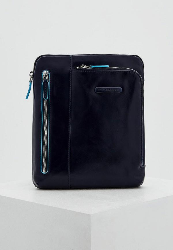 мужская сумка piquadro, синяя