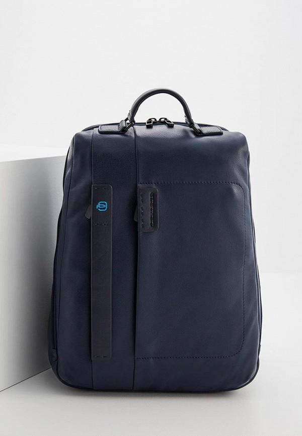 Фото - мужской рюкзак Piquadro синего цвета