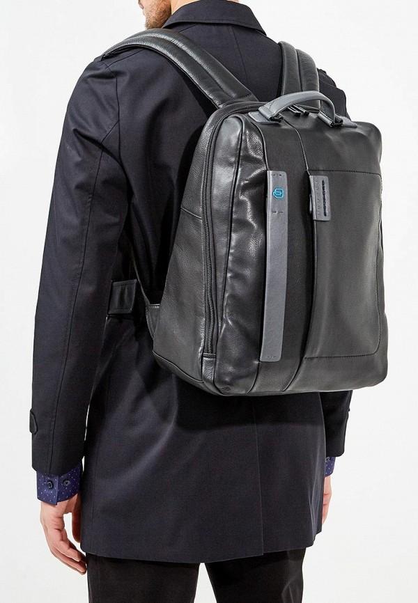 Фото 5 - мужской рюкзак Piquadro черного цвета