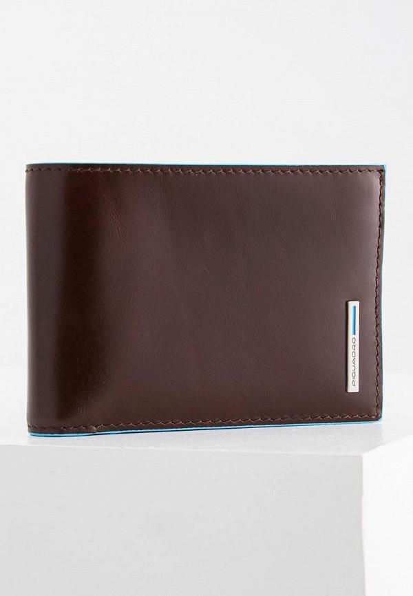 мужской кошелёк piquadro, коричневый