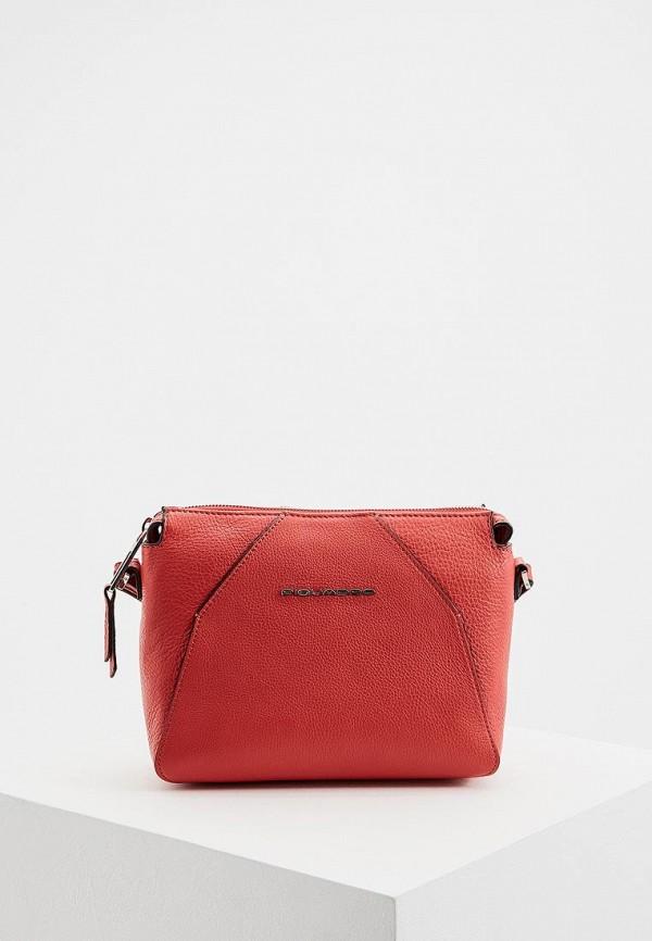 женская сумка piquadro, красная