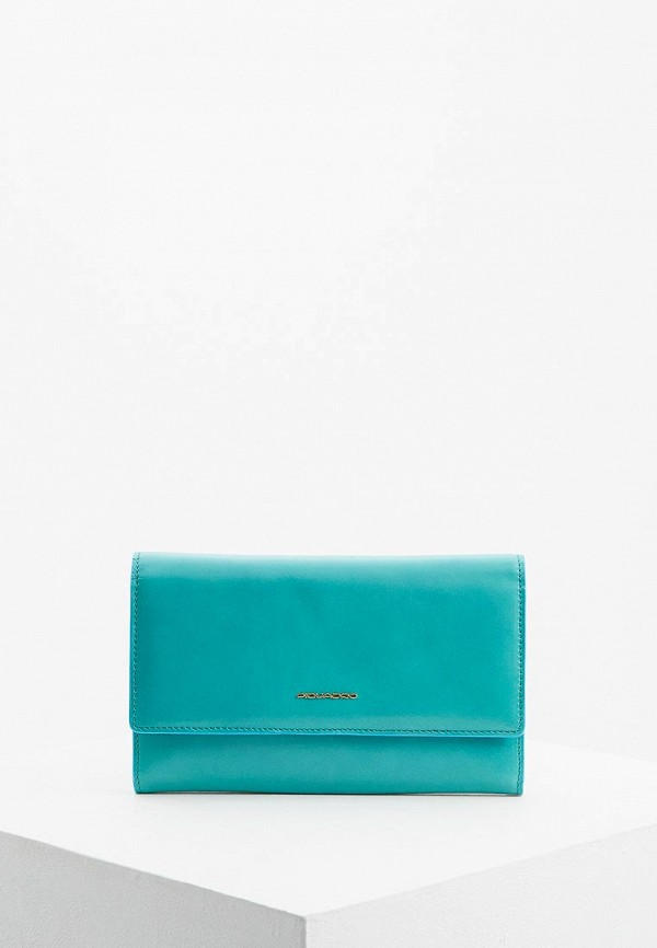 женский кошелёк piquadro, бирюзовый