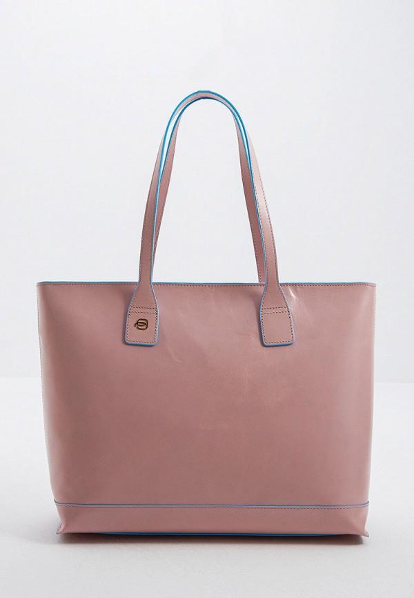 женская сумка piquadro, розовая