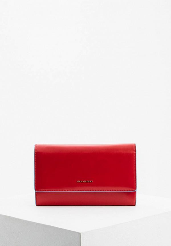 женский кошелёк piquadro, красный