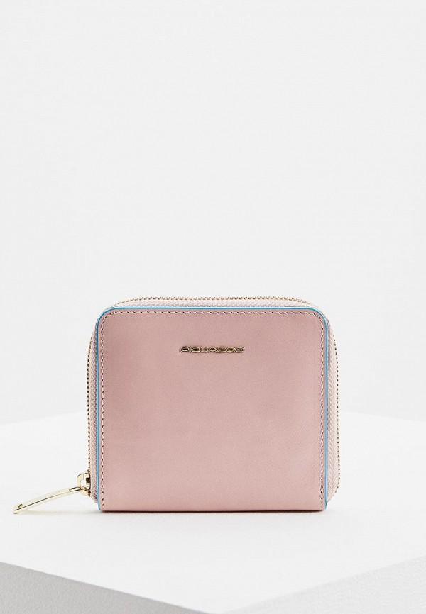 женский кошелёк piquadro, розовый