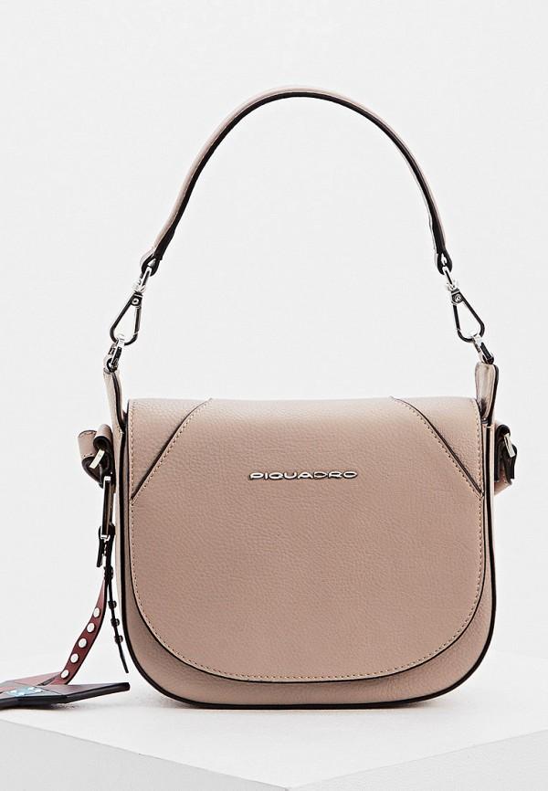 женская сумка piquadro, бежевая