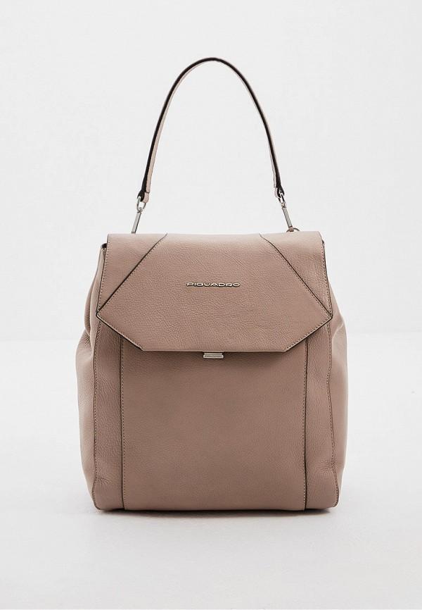 женский рюкзак piquadro, бежевый